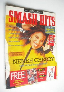 <!--1989-01-11-->Smash Hits magazine - Neneh Cherry cover (11-24 January 19
