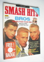<!--1988-07-13-->Smash Hits magazine - Bros cover (13-26 July 1988)