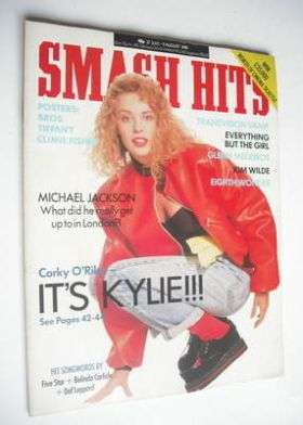 <!--1988-07-27-->Smash Hits magazine - Kylie Minogue cover (27 July - 9 Aug