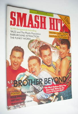 <!--1988-08-10-->Smash Hits magazine - Brother Beyond cover (10-23 August 1