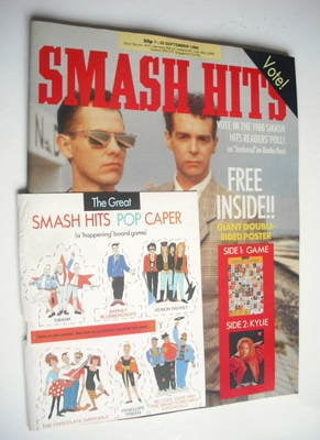 <!--1988-09-07-->Smash Hits magazine - Pet Shop Boys cover (7-20 September