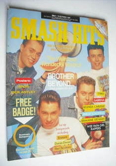 <!--1988-10-05-->Smash Hits magazine - Brother Beyond cover (5-18 October 1