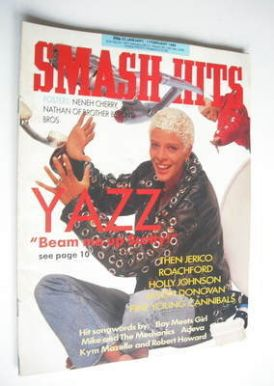 <!--1989-01-25-->Smash Hits magazine - Yazz cover (25 January - 7 February