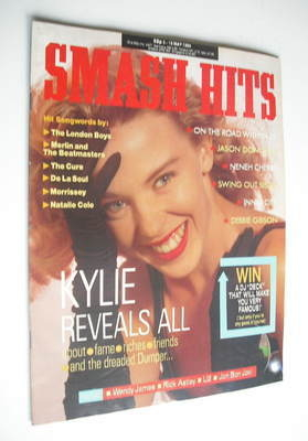 <!--1989-05-03-->Smash Hits magazine - Kylie Minogue cover (3-16 May 1989)
