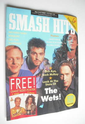 <!--1989-09-20-->Smash Hits magazine - Wet Wet Wet cover (20 September - 4