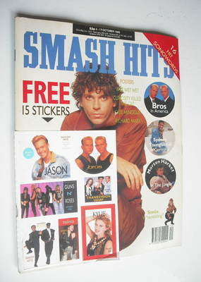 <!--1989-10-04-->Smash Hits magazine - Michael Hutchence cover (4-17 Octobe