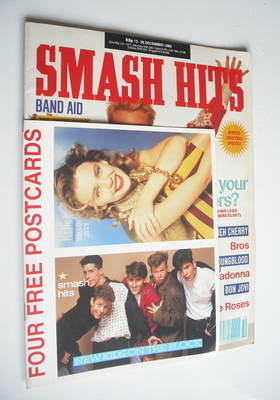 <!--1989-12-13-->Smash Hits magazine - Jason Donovan cover (13-26 December