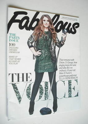 <!--2012-11-11-->Fabulous magazine - Ella Henderson cover (11 November 2012