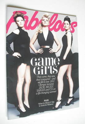<!--2012-12-02-->Fabulous magazine - Game Girls cover (2 December 2012)