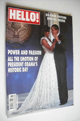 <!--2009-02-03-->Hello! magazine - Barack Obama cover (3 February 2009 - Is