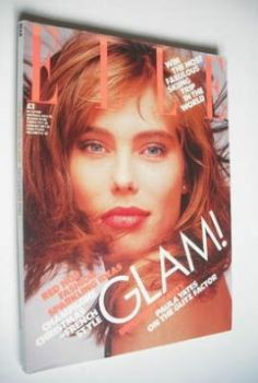 British Elle magazine - December 1986 - Renee Simonsen cover