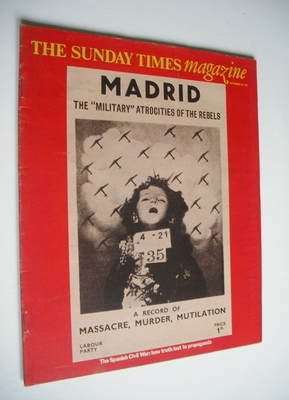 <!--1975-09-28-->The Sunday Times magazine - The Spanish Civil War cover (2