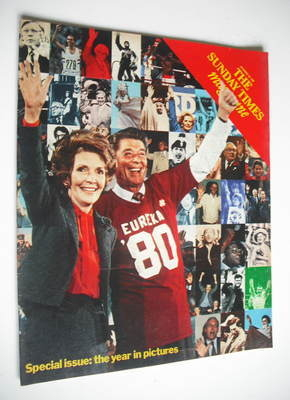 <!--1980-12-28-->The Sunday Times magazine - The Year In Pictures cover (28