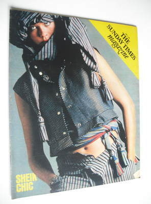 <!--1981-05-03-->The Sunday Times magazine - Sheik Chic cover (3 May 1981)