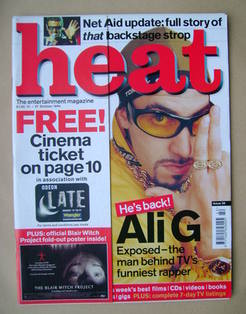 Heat magazine - Ali G cover (21-27 October 1999 - Issue 38)