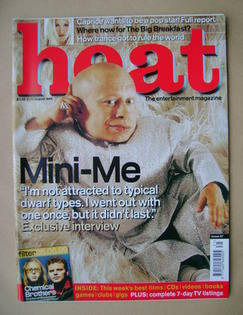 <!--1999-08-05-->Heat magazine - Verne Troyer cover (5-11 August 1999 - Iss