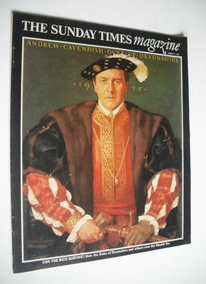 <!--1975-08-17-->The Sunday Times magazine - The Duke of Devonshire cover (