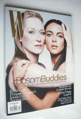 <!--2006-05-->W magazine - May 2006 - Meryl Streep and Lindsay Lohan cover