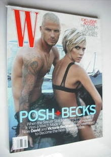 <!--2007-08-->W magazine - August 2007 - David and Victoria Beckham cover