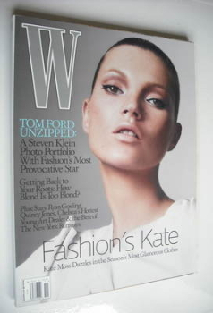 W magazine - November 2005 - Kate Moss cover
