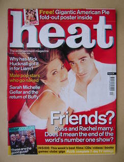 Heat magazine - Jennifer Aniston and David Schwimmer cover (7-13 October 1999 - Issue 36)
