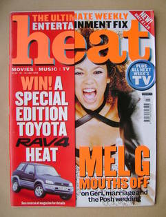 <!--1999-07-10-->Heat magazine - Mel G cover (10-16 July 1999 - Issue 23)