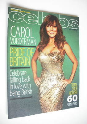 <!--2012-10-28-->Celebs magazine - Carol Vorderman cover (28 October 2012)