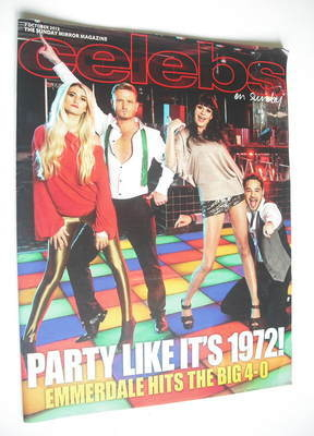 <!--2012-10-07-->Celebs magazine - 40 Years Of Emmerdale cover (7 October 2