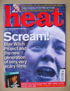 Heat magazine - Scream! cover (12-18 August 1999 - Issue 28)