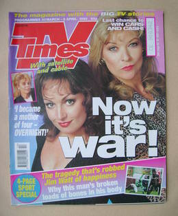 <!--1996-03-30-->TV Times magazine - Jacqueline Pirie and Claire King cover