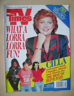<!--1990-09-22-->TV Times magazine - Cilla Black cover (22-28 September 199