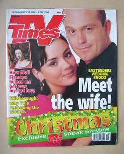 <!--1996-11-30-->TV Times magazine - Martine McCutcheon and Ross Kemp cover
