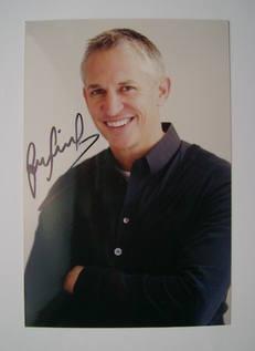 Gary Lineker autograph