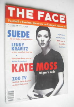 The Face magazine - Kate Moss cover (March 1993 - Volume 2 No. 54)