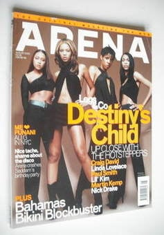<!--2000-08-->Arena magazine - August 2000 - Destiny's Child cover