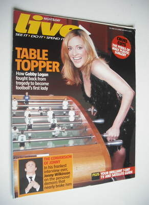 <!--2006-01-08-->Live magazine - Gabby Logan cover (8 January 2006)