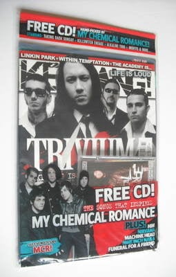 <!--2007-04-07-->Kerrang magazine - Trivium cover (7 April 2007 - Issue 115