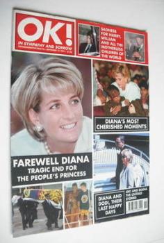 OK! magazine - Princess Diana cover (12 September 1997 - Issue 76)