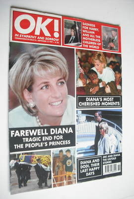 <!--1997-09-12-->OK! magazine - Princess Diana cover (12 September 1997 - I