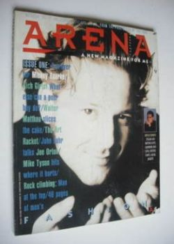 Arena magazine - Winter 1986/1987 - Issue 1 - Mickey Rourke cover