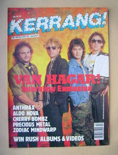 <!--1985-12-26-->Kerrang magazine - Van Halen cover (26 December 1985-8 Jan