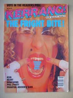 <!--1985-11-28-->Kerrang magazine - Dee Snider cover (28 November-11 Decemb