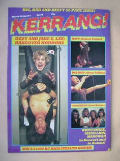 <!--1984-03-22-->Kerrang magazine - Ozzy Osbourne and Jake E. Lee cover (22
