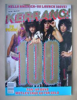 <!--1985-08-08-->Kerrang magazine - Motley Crue cover (8-21 August 1985 - I