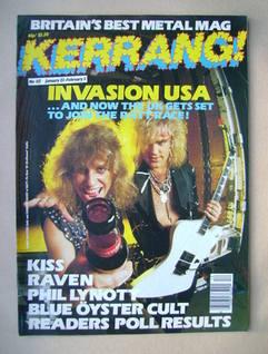 <!--1986-01-23-->Kerrang magazine - Bobby Blotzer and Robbin Crosby cover (