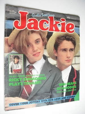 <!--1986-10-18-->Jackie magazine - 18 October 1986 (Issue 1189)