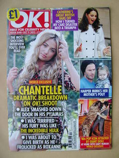 <!--2012-10-09-->OK! magazine - Chantelle Houghton cover (9 October 2012 -