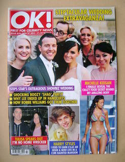 <!--2012-11-27-->OK! magazine - Lee Latchford Evans cover (27 November 2012