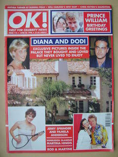 <!--1998-06-26-->OK! magazine - Diana and Dodi cover (26 June 1998 - Issue