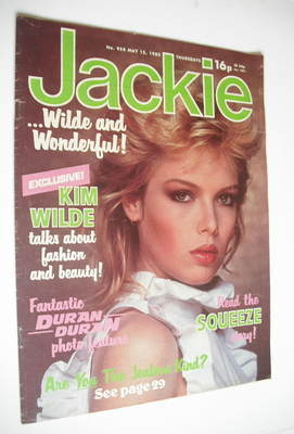 <!--1982-05-15-->Jackie magazine - 15 May 1982 (Issue 958 - Kim Wilde cover